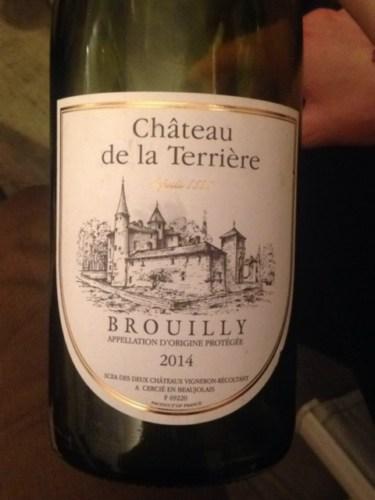 Ch teau de la terriere brouilly 2014 wine info for Brouilly chateau de la chaise