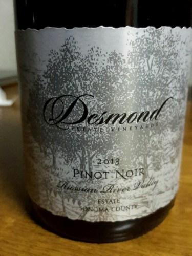 Desmond Russian River Valley Pinot Noir 2013 | Wine Info