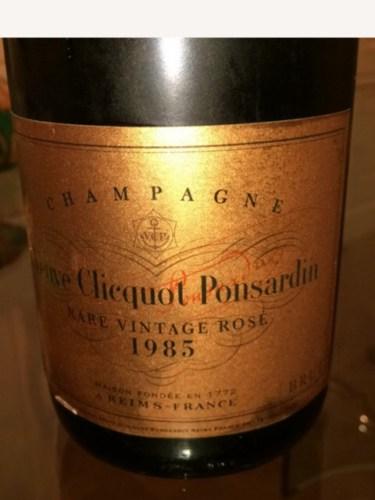 Veuve Clicquot Rare Vintage Rose in Cellar Box 1985,