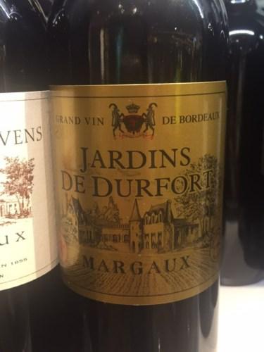 Jardins de durfort margaux for Jardin du nil wine price