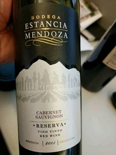 Estancia Mendoza Cabernet Sauvignon Reserva 2015 Wine Info