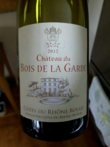 Mousset Barrot Ch u00e2teau du Bois de la Garde C u00f4tes du Rh u00f4ne 2012 Wine Info # Chateau Du Bois De La Garde