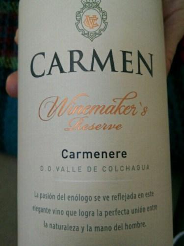 Kết quả hình ảnh cho carmen winemaker's carmenere