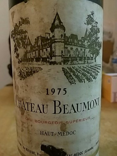 Ch teau beaumont haut m doc 1975 wine info for Chateau beaumont