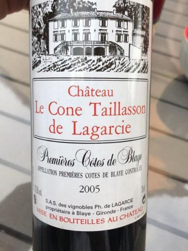 Chteau Le Cne Taillasson De Lagarcie Premieres Cotes Blaye