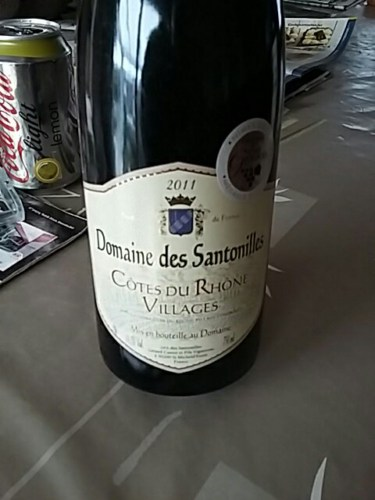 Santonilles c tes du rh ne villages 2011 wine info for Jardin du nil wine price