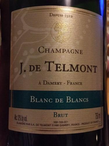 J de telmont champagne cuv e brut blanc de blancs grand for Belle jardin blanc de blancs