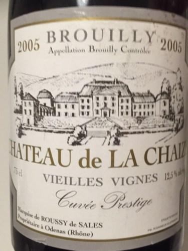 Ch teau de la chaize cuv e vieilles vigne brouilly 2005 for Brouilly chateau de la chaise