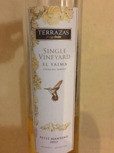 Terrazas De Los Andes Single Vineyard El Yaima Petit Manseng 2013