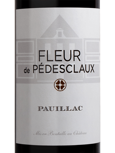 Chateau Pedesclaux Fleur De Pedesclaux Pauillac 2012 Wine Info
