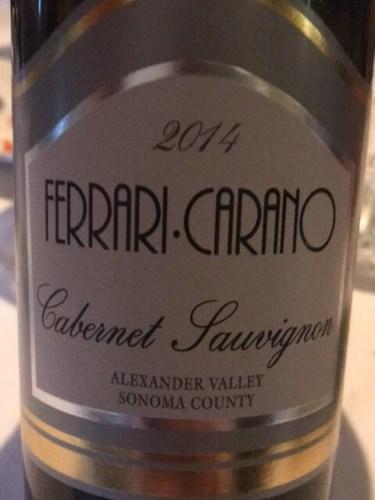 Ferrari Carano Cabernet Sauvignon 2014 | Wine Info