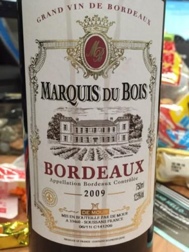 marquis du bois bordeaux rouge 2013 wine info. Black Bedroom Furniture Sets. Home Design Ideas