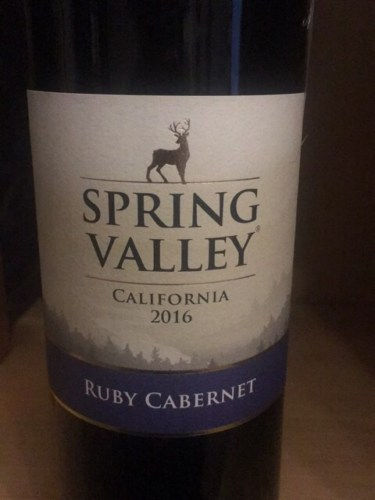 Spring Valley Ruby Cabernet 2016 Wine Info