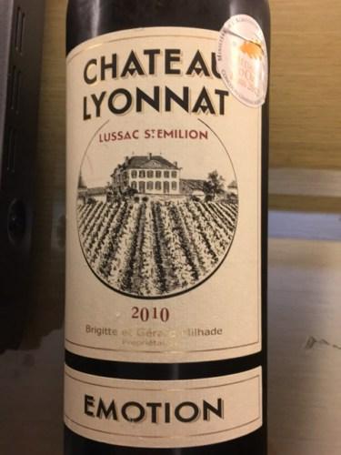 Ch teau lyonnat emotion lussac st milion 1989 wine info for Chateau lyonnat