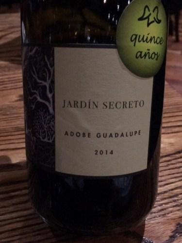 Adobe guadalupe jard n secreto 2014 wine info for Jardin secret wine