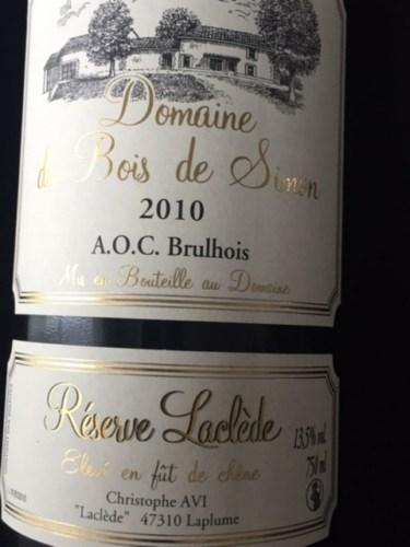 Bois de Simon Brulhois Reserve Laclede 2008  Wine Info ~ Reserve De Bois
