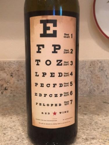 Joel Gott Eye Chart Red Wine Info