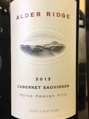 & Alder Ridge Cabernet Sauvignon 2013   Wine Info