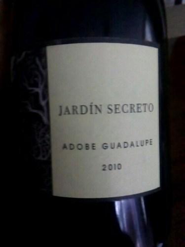 Adobe guadalupe jard n secreto 2010 wine info for Jardin secret wine