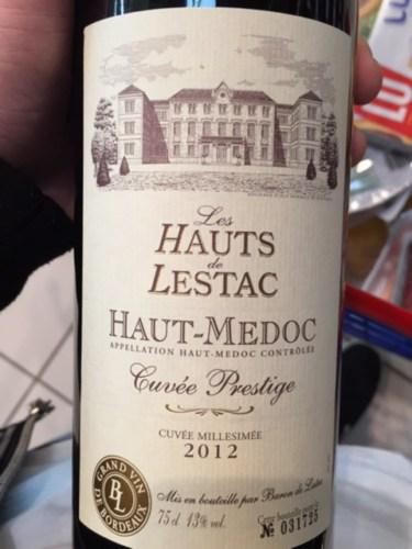 Les hauts de lestac cuv e prestige 2012 wine info - Les hauts de toulvern ...
