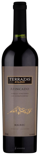 Terrazas De Los Andes Single Vineyard Afincado Malbec 2006