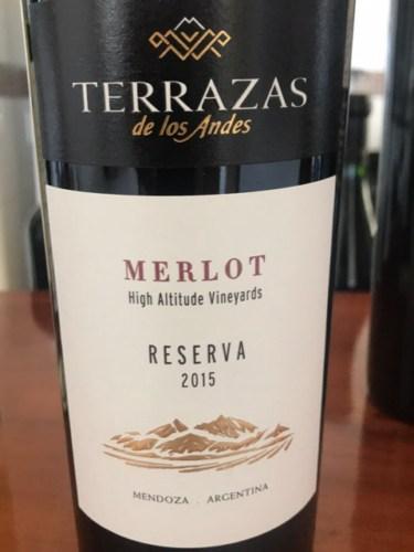 Terrazas De Los Andes Reserva Merlot 2015