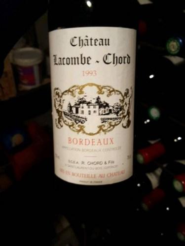 Chteau Lacombe Chord Bordeaux Wine Info