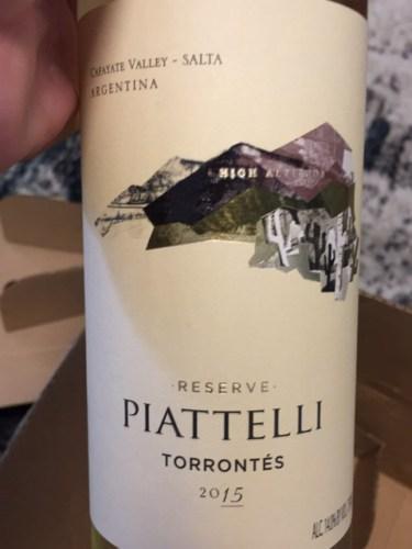 Piattelli Reserve Torront 233 S Wine Info