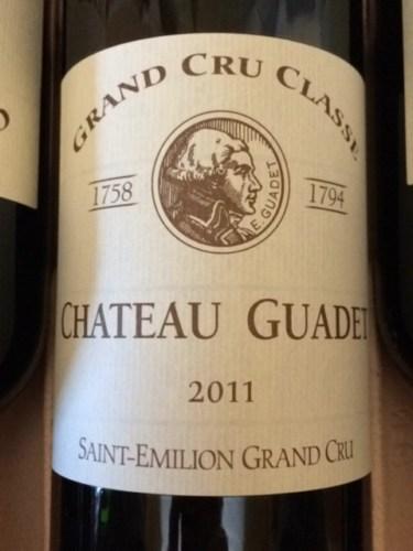 ch teau guadet saint milion grand cru class 2011 wine info. Black Bedroom Furniture Sets. Home Design Ideas