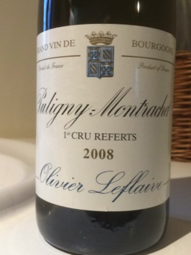 Olivier leflaive puligny montrachet 1er cru les referts - La table d olivier leflaive puligny montrachet ...