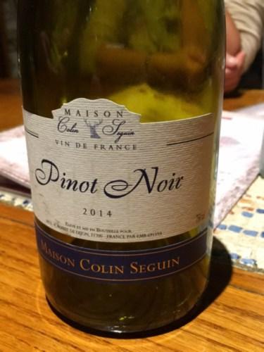 Maison colin seguin pommard 2014 wine info for Champagne seguin