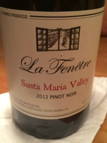 La fenetre bien nacido vineyard pinot noir 2012 wine info for La fenetre winery