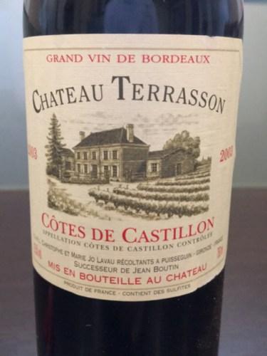 Château Terrasson Côtes De Bordeaux 2007