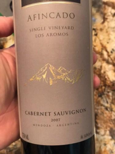 Terrazas De Los Andes Single Vineyard Afincado Cabernet Sauvignon 2007