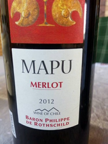 Baron Philippe De Rothschild Mapu Merlot 2012 Wine Info