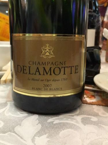 Delamotte champagne blanc de blancs brut mill sim 2007 wine info for Salon blanc de blancs le mesnil sur oger