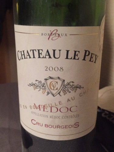 ch teau le pey medoc cru bourgeois 2008 wine info. Black Bedroom Furniture Sets. Home Design Ideas