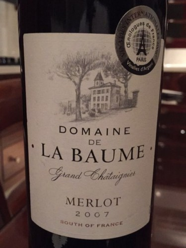 domaine de la baume merlot reserve 2007 wine info. Black Bedroom Furniture Sets. Home Design Ideas