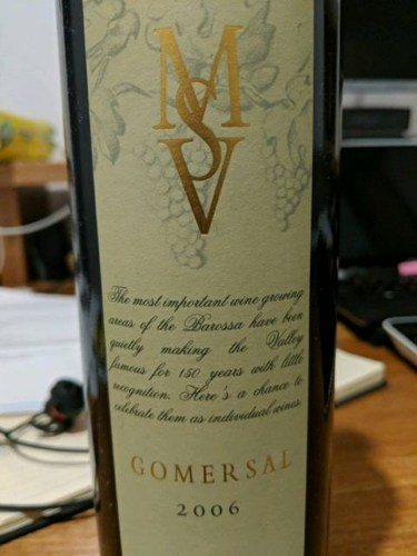 Murray Street Vineyards (MSV) Gomersal 2006