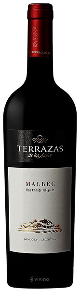 Terrazas De Los Andes High Altitude Vineyards Malbec 2016