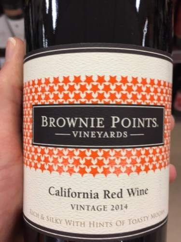 Brownie points red wine
