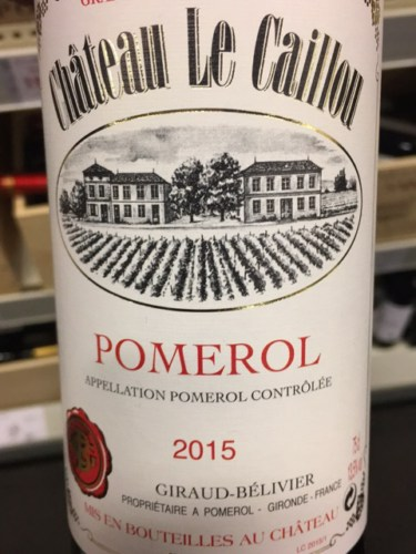Ch 226 Teau Le Caillou Pomerol 2015 Wine Info