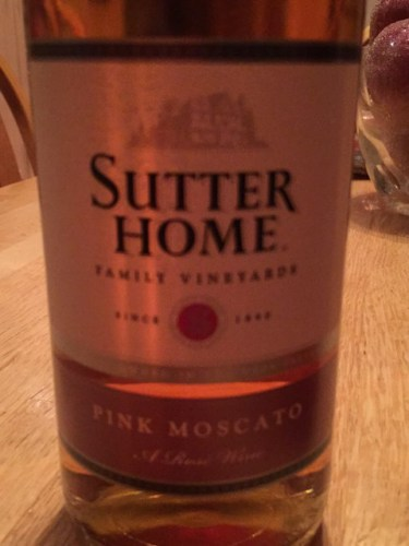 Sutter Home Pink Moscato 2014