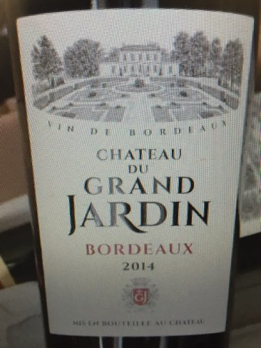 ch teau du grand jardin bordeaux 2014 wine info