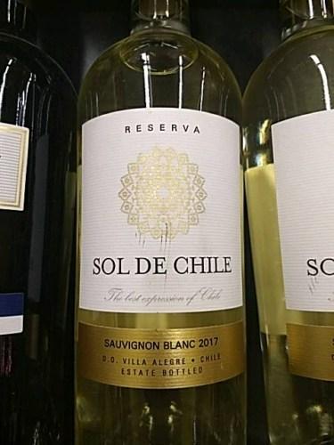 Sol de Chile Reserva Sauvignon Blanc 2017 | Wine Info