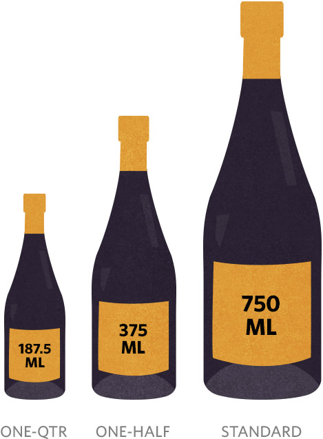 Guide to Wine Bottle Sizes: Small