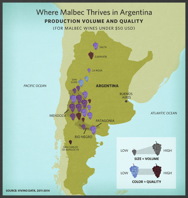 How Argentina Stole Malbec From France - Argentina regions map